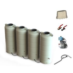 1,000 Litre Modular WaterTank and Pump Garden Package