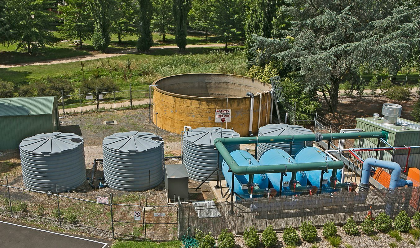 Gas Extraction and Water Treatment Management Tanks