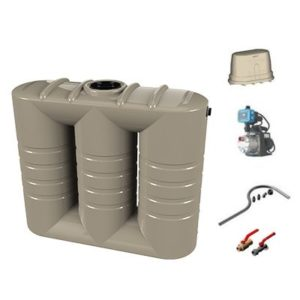 3,000L Slimline Water Tank and Pump Garden Package
