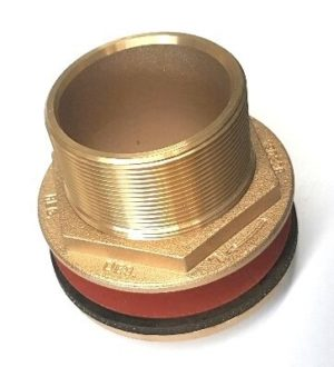 75mm brass flanged outlet threaded