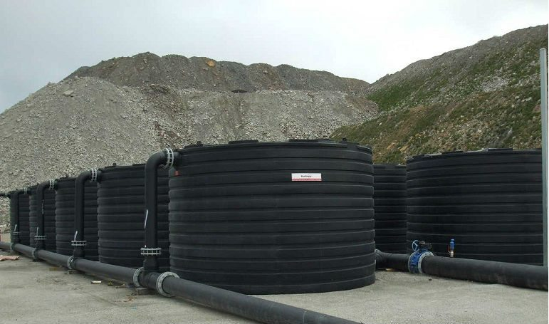 Water Treatment Tanks in black