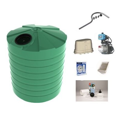 5000 Litre Round Water Tank and Pump Combo Package with the tank model TT1100