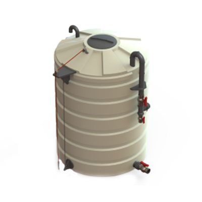 Liquid Chlorine Tank in Beige