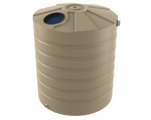 beige rainwater tank Bushman Tanks