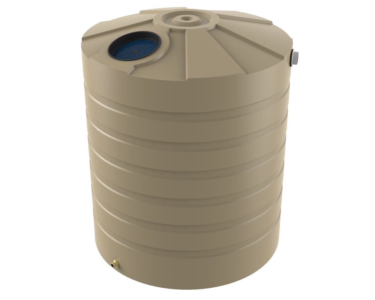 3250 Litre Tall Rainwater Tank - Water Tanks - Bushman Tanks