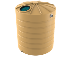 3200 litre domed tall rainwater tank Bushman Tanks