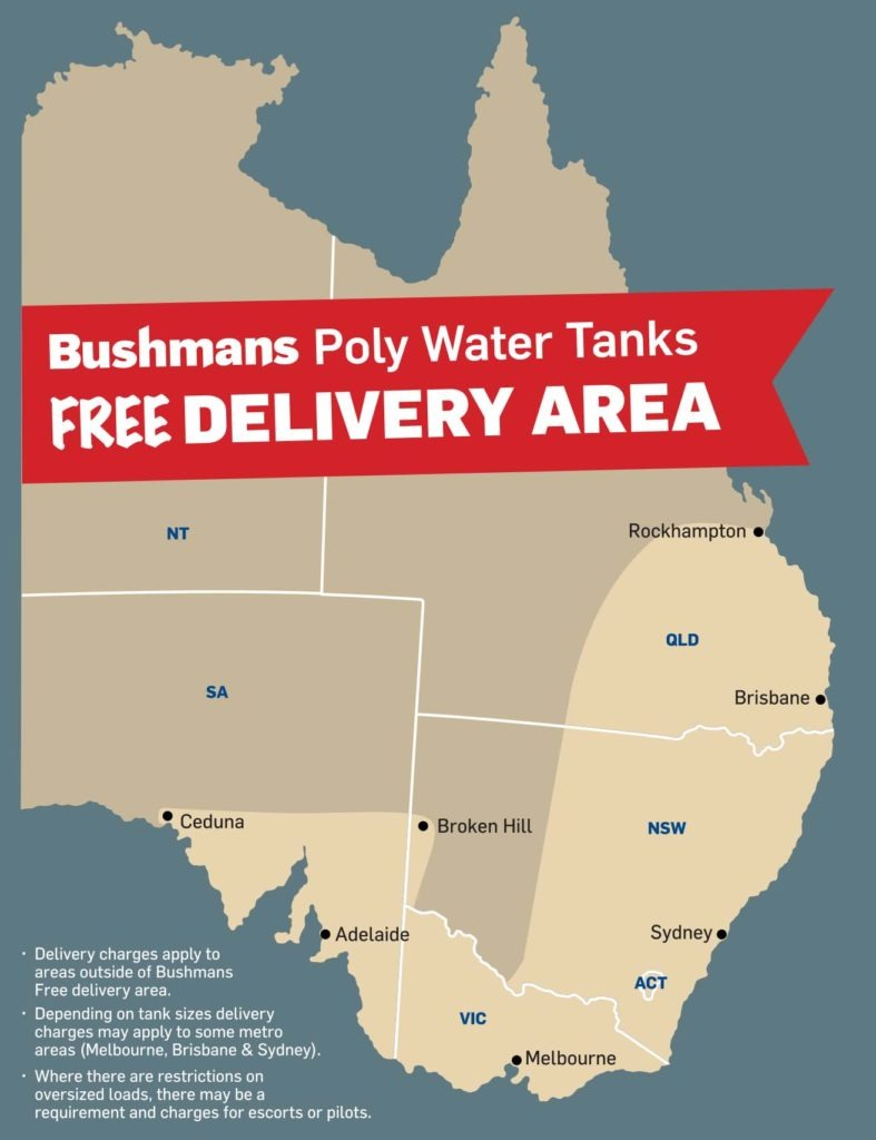 Bushman tanks free delivery areas